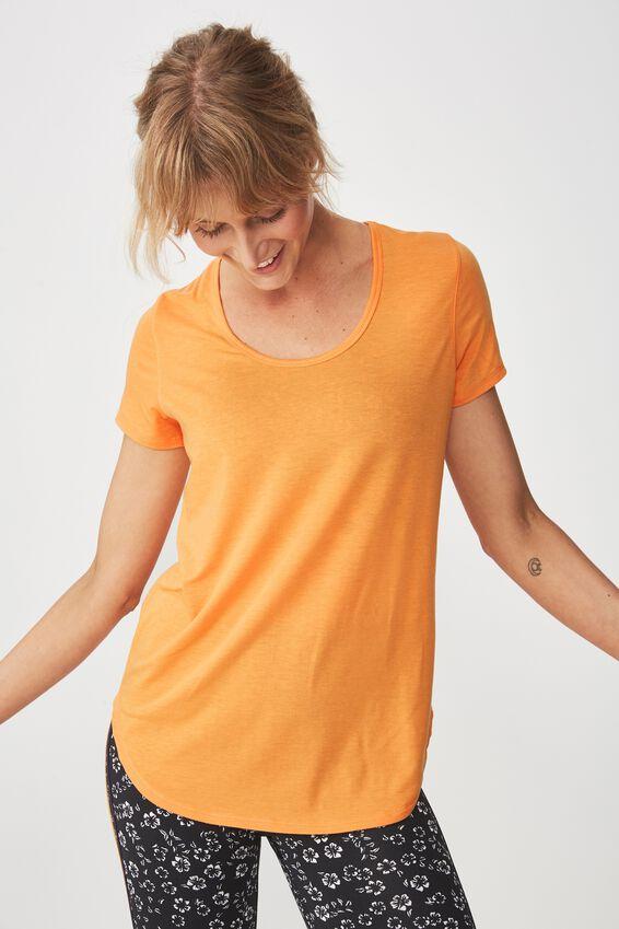Gym T Shirt, HEATWAVE ORANGE MARLE