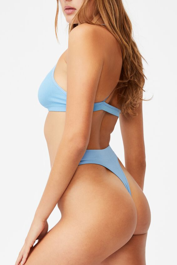 Seamless High Cut Thong Brief, GLACIER BLUE