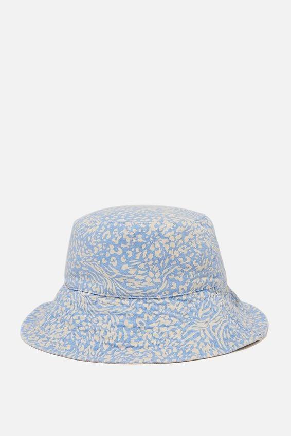 Bonnie Reversible Bucket Hat, HYBRID ZEBRA