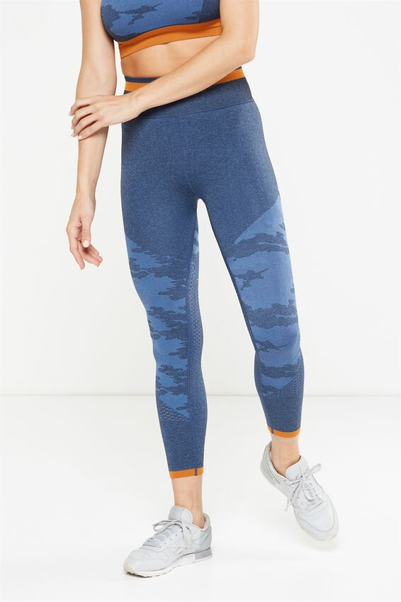 Explorer Seamfree 7/8 Tight, DARK INDIGO/ALPINE BLUE