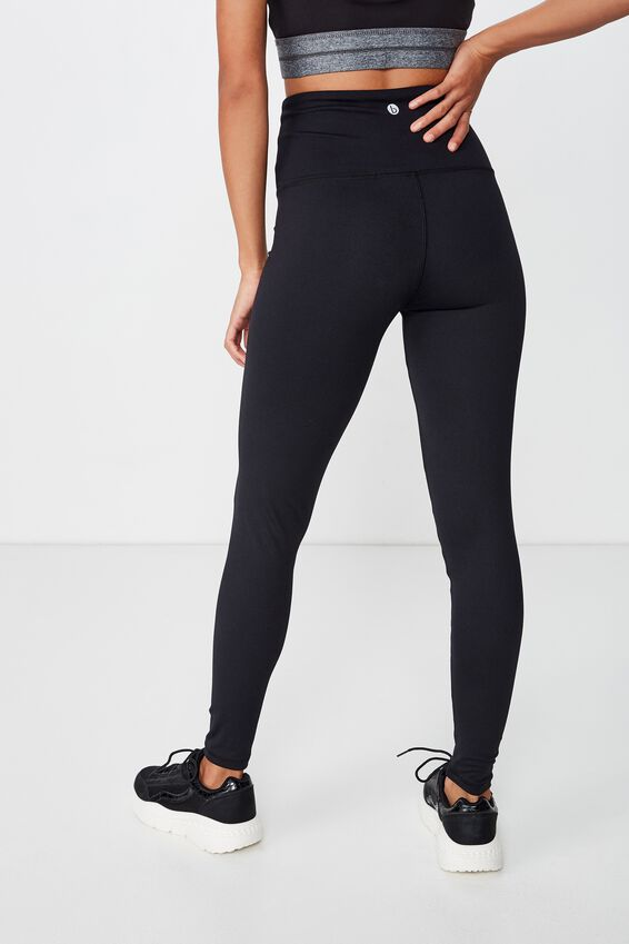 Active High Waist Core Tight, BB BLACK