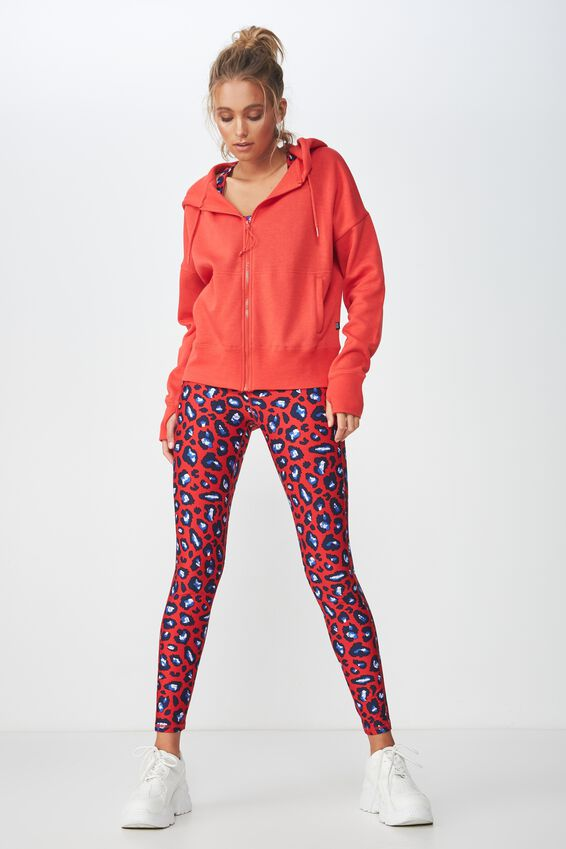 Zippy Active Hoodie, WASHED RED