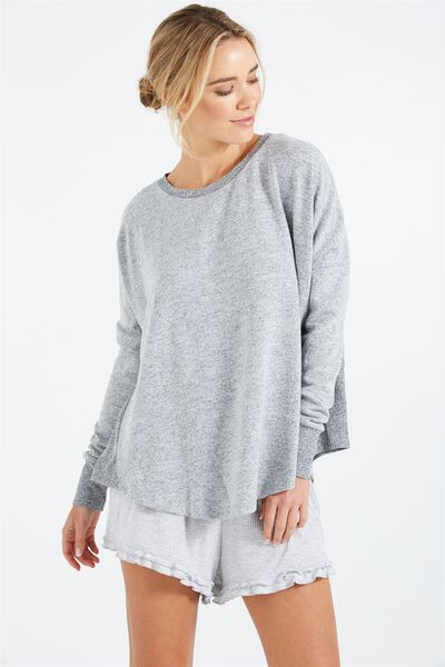 Super Soft Relaxed Top, GREY MARLE