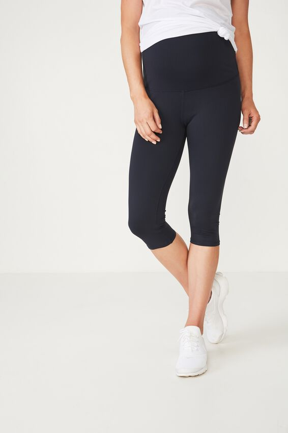 Maternity Core Capri Over Belly Tight, NAVY
