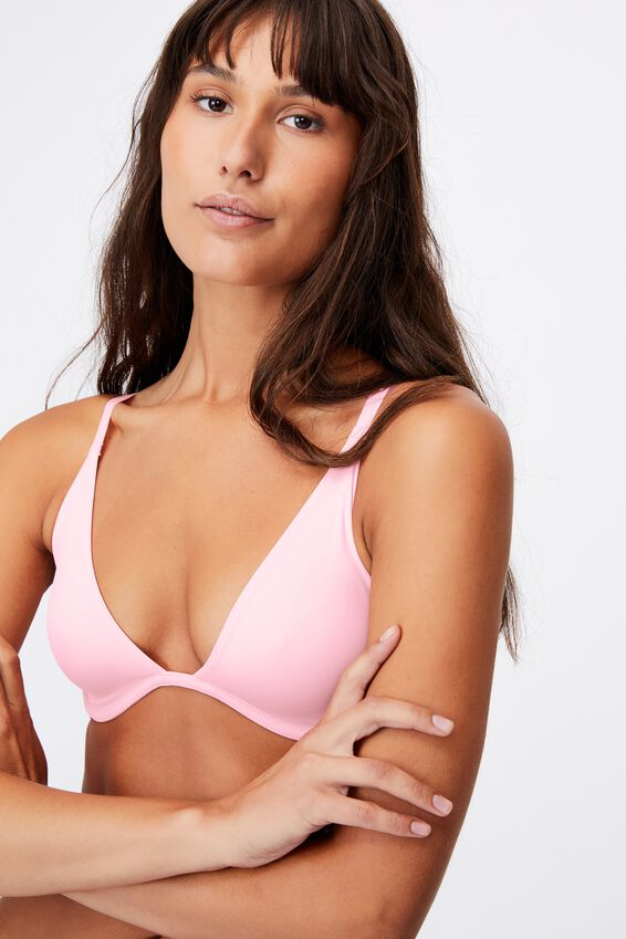 Ultimate Plunge Underwire Bra, ROSE QUARTZ
