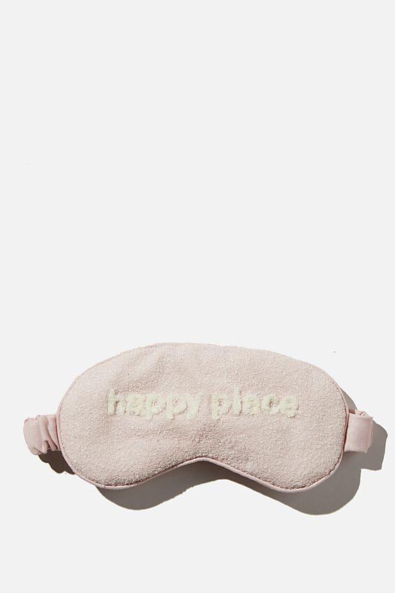 Sleep Eyemask, PRETTY PINK/HAPPY PLACE