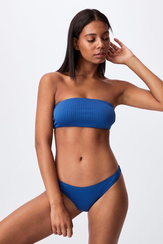 Full Bikini Bottom Rib, MARINA BLUE RIB 21