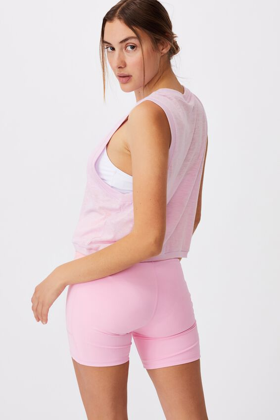 All Things Fabulous Cropped Muscle Tank, BLOSSOM
