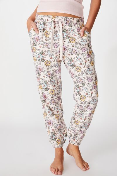 Flannel Sleep Pant, BUNNY FLORAL
