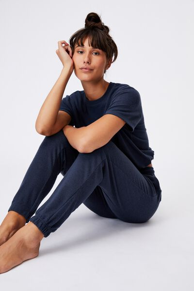 Super Soft Slim Cuff Pant, MAGNET BLUE