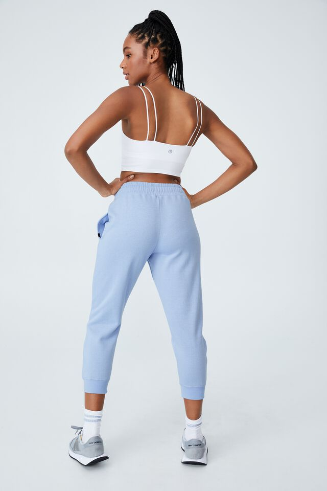 Lifestyle Cropped Gym Track Pants, ICED SKY