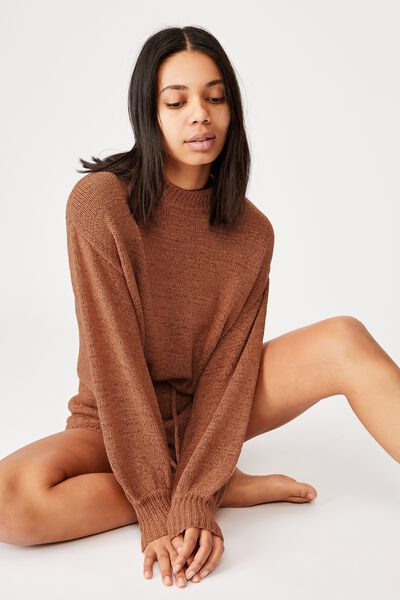 Summer Lounge Long Sleeve, TERRACOTTA