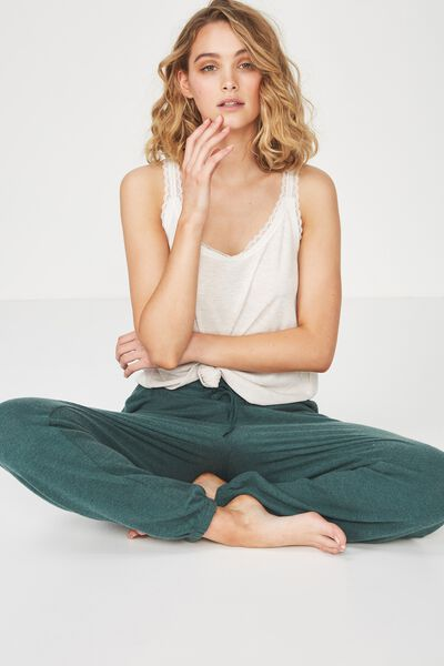 Super Soft Lounge Pant, WINTER GREEN MARLE