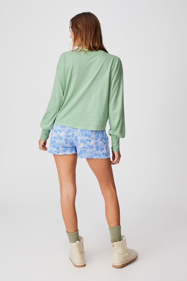 Jersey Sleep Pullover, LCN SMILEY JUST BE KIND/WASHED MINT