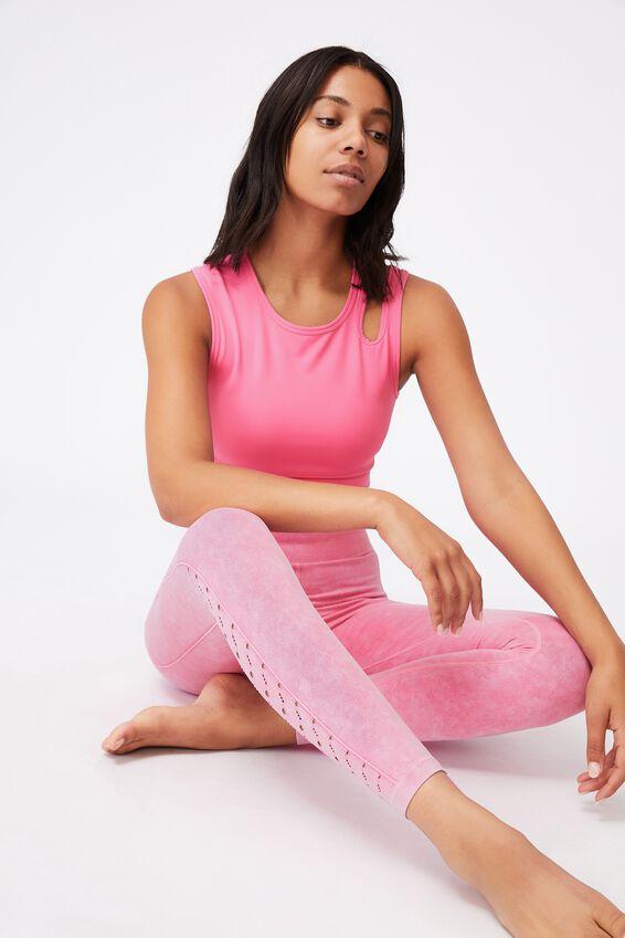 Lifestyle Seamless 7/8 Yoga Tight, AURORA PINK WASH