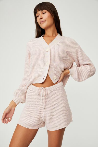 Organic Cotton Knit Lounge Short, PRIMROSE MARLE