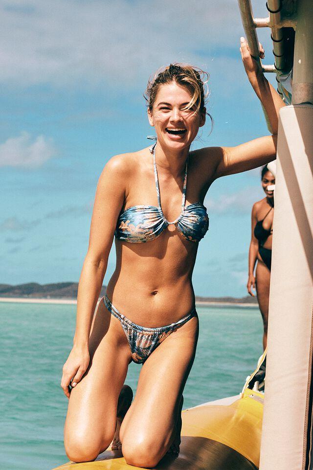 Floss Bikini Top, HAWAIIAN BLUE SHIMMER