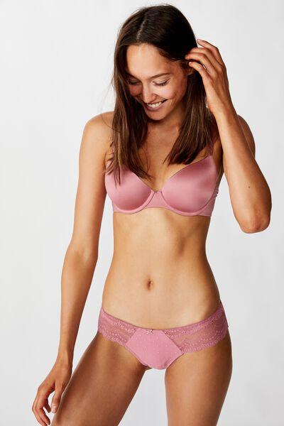 Alice Lace Bikini Brief, WASHED ROSE