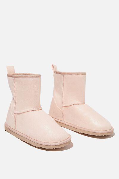 Hallie Short Home Boot, ROSE GOLD