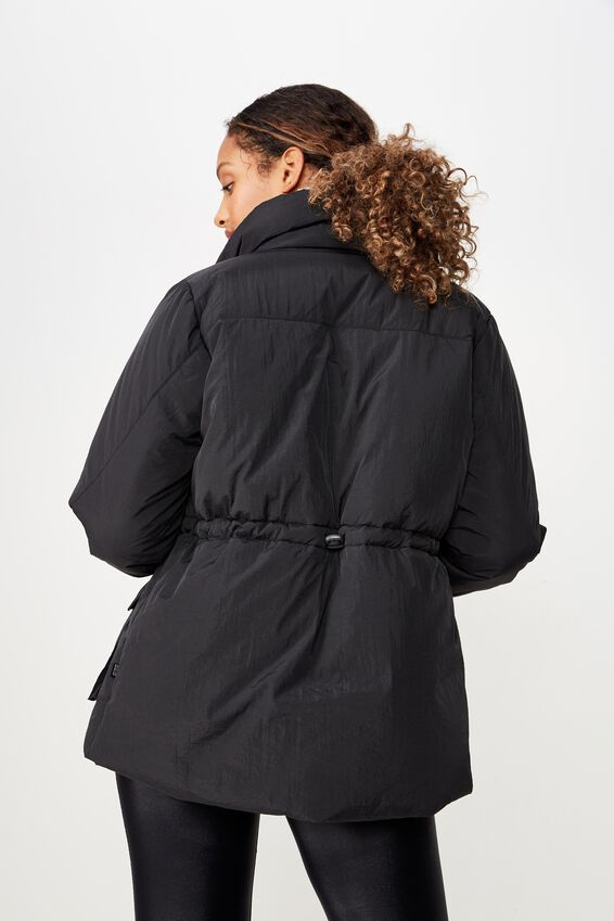 Mountain Puffer Jacket, BLACK