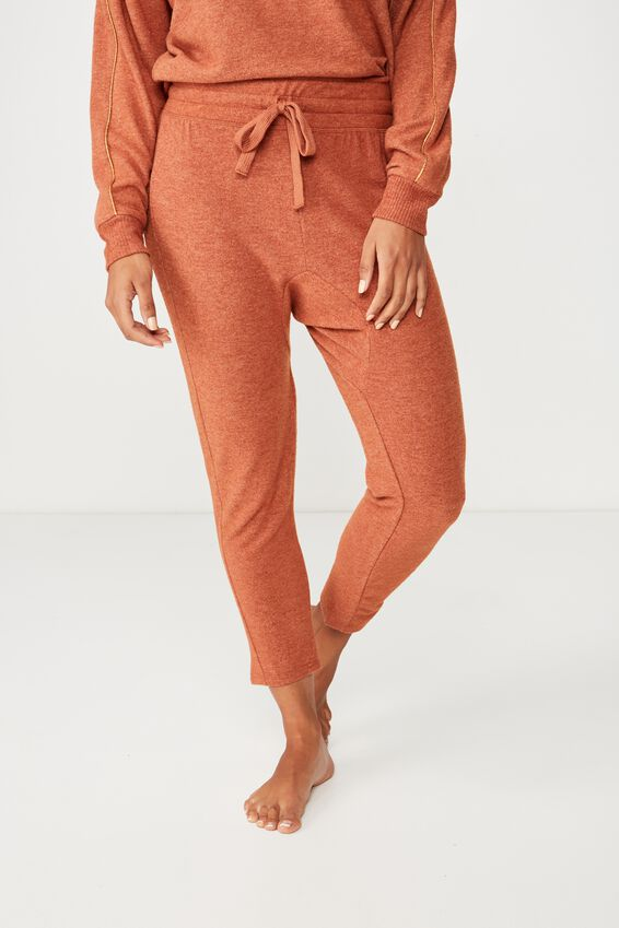 Supersoft Drop Crotch Pant, POTTERS CLAY MARLE