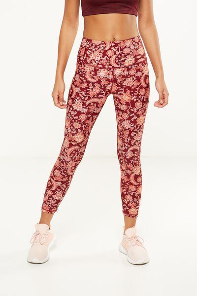Highwaisted Yoga 7/8 Tight, CHINZ FLORAL