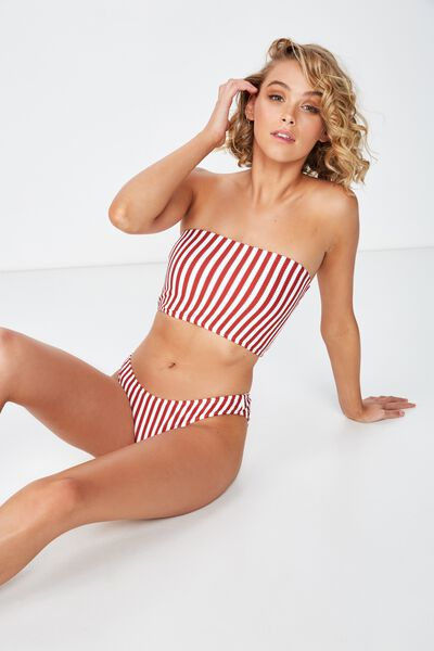Classic Full Bikini Bottom, TANDOORI STRIPE