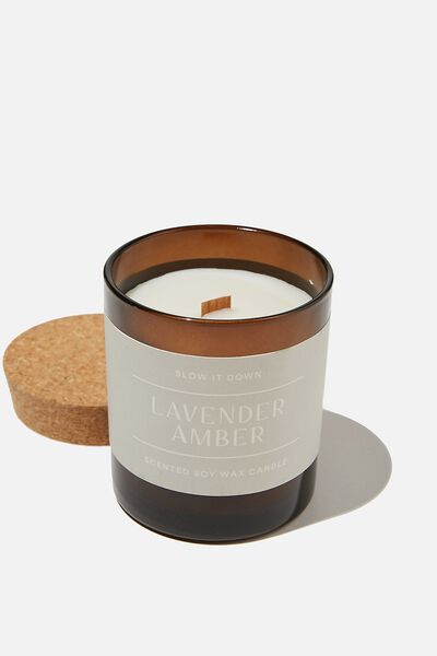 Slow It Down Candle, LAVENDER AMBER