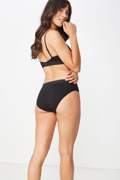 Sporty Femme Bikini Brief, BLACK