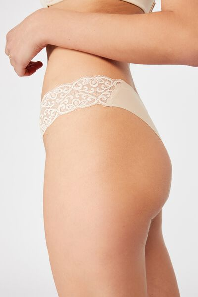 Party Pants Seamless Brasiliano Brief, FRAPPE