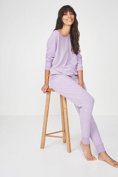 Super Soft Crew Neck Top, LAVENDER MARLE