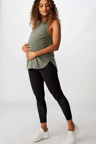 Maternity Lifestyle 7/8 Tight, BLACK LAZER