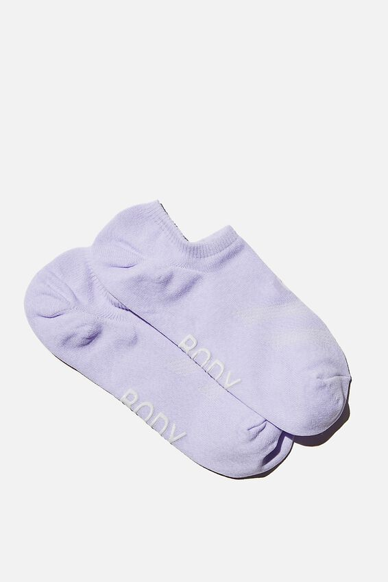 Sporty Invisible Sock, CHALKY LAVENDAR