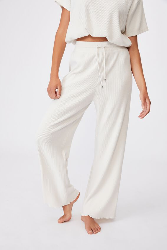 Super Soft Relaxed Pant, OATMEAL MARLE RIB