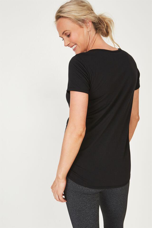Maternity Gym T Shirt, BLACK