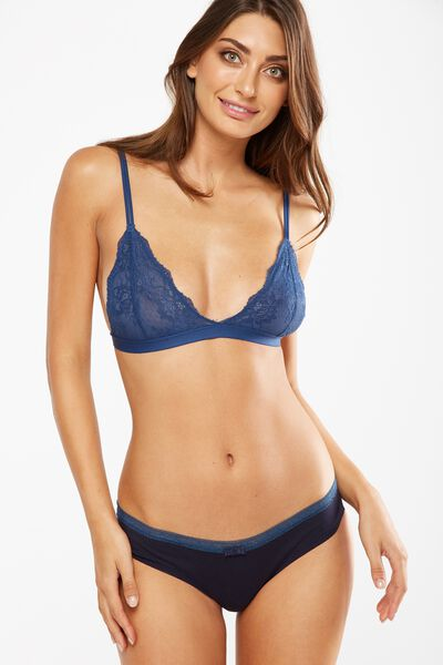 The Body V Lace Bralette, INFINITY BLUE