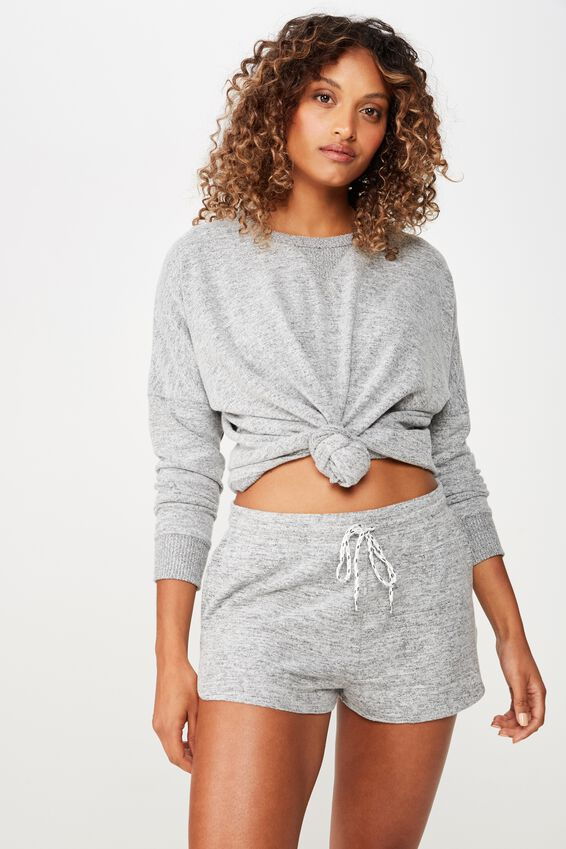 Super Soft Lounge Short, GREY MARLE