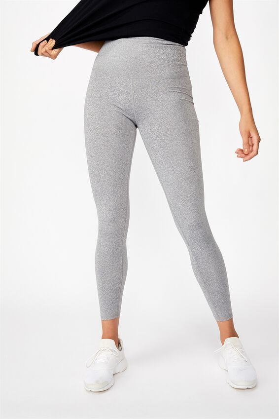 Active High Waist Core Full Length Tight, MID GREY MARLE