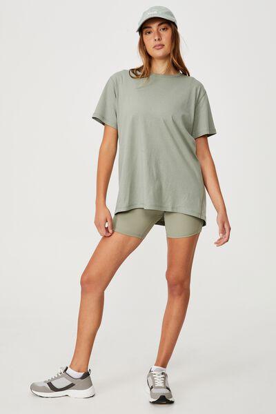 Active Organic Tshirt, GREEN HAZE