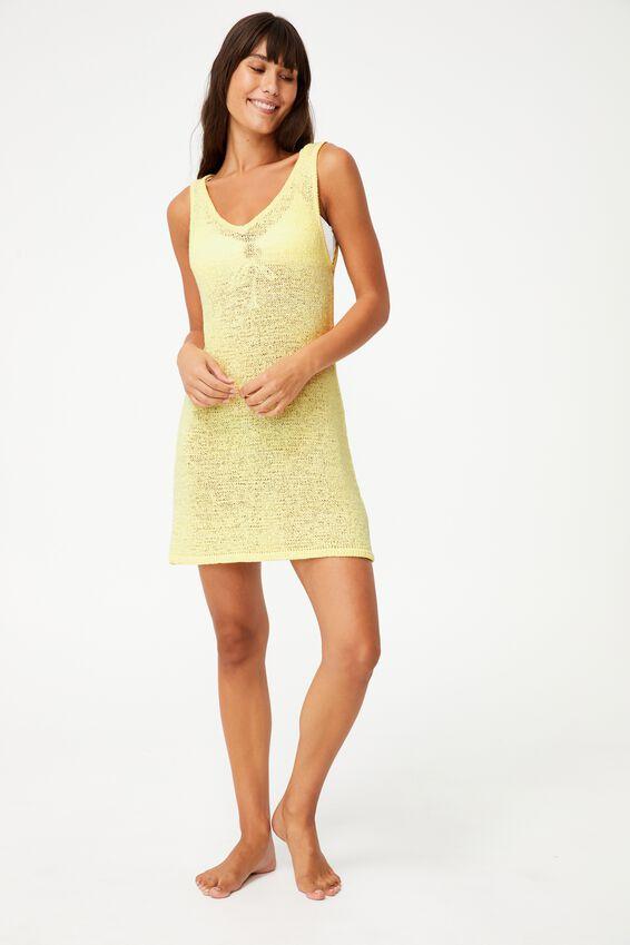 Summer Lounge Slip Dress, LEMON