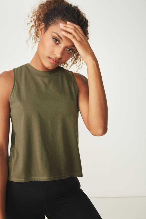 Cross Over Tank Top, OLIVE BRANCH