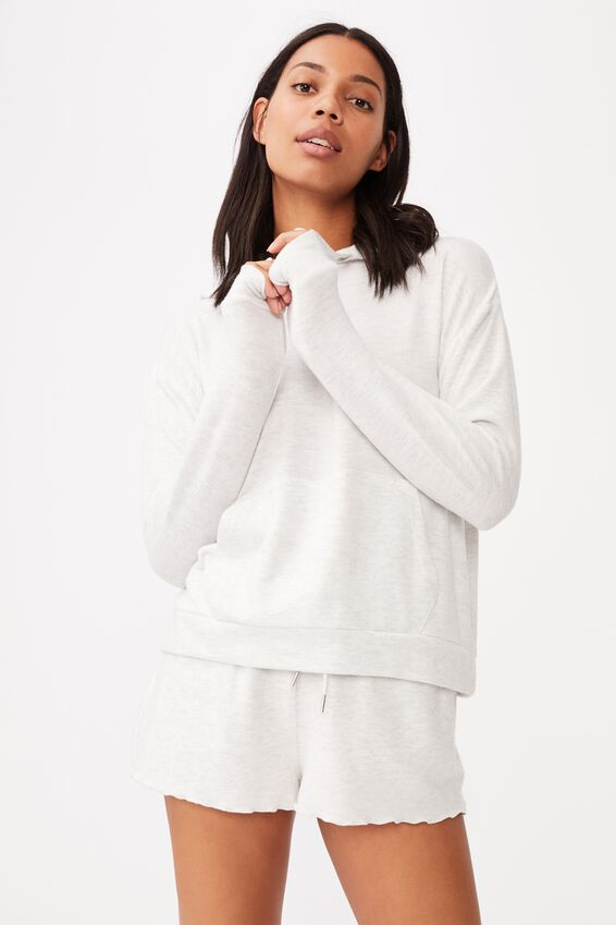 Supersoft Lounge Hoodie, SOFT GREY MARLE