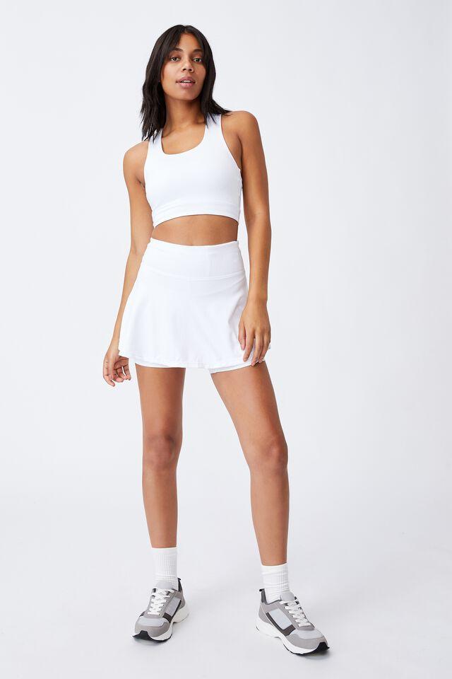 All Rounder Tennis Skirt, WHITE