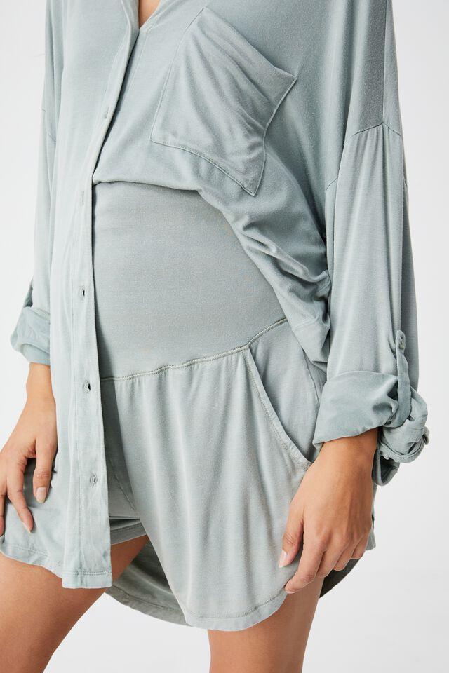 Sleep Recovery Maternity Pocket Short, DESERT SAGE WASH