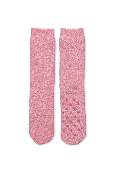 Loungin Around Sock, WILD ROSE MARLE