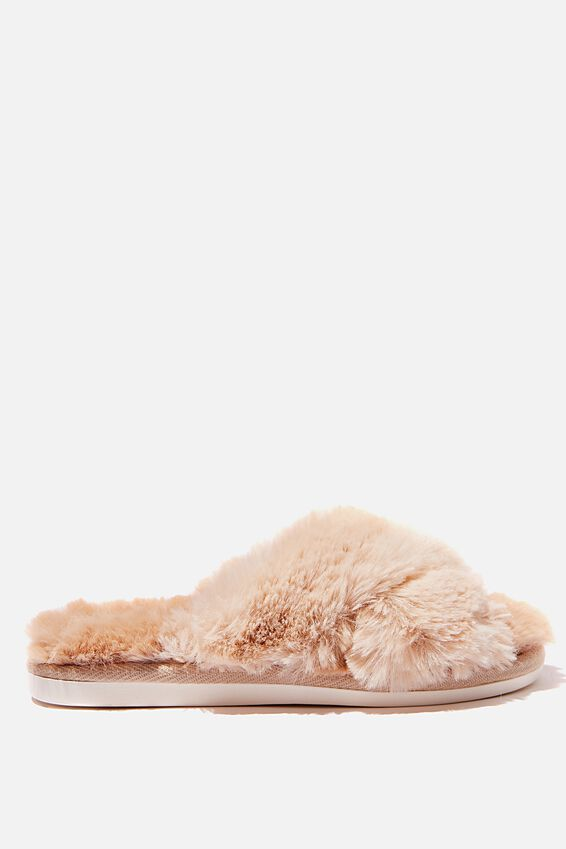 Arlie Crossover Slipper, CARAMEL MULTI