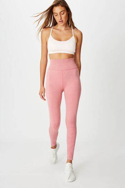 Crochet Seamless 7/8 Tight, WASHED ROSE