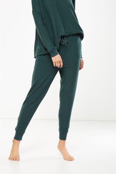 Super Soft Slim Fit Pant, HUNTER GREEN MARLE