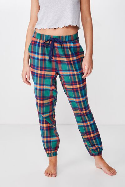 Dropped Flannel Pant, BOLD CHECK
