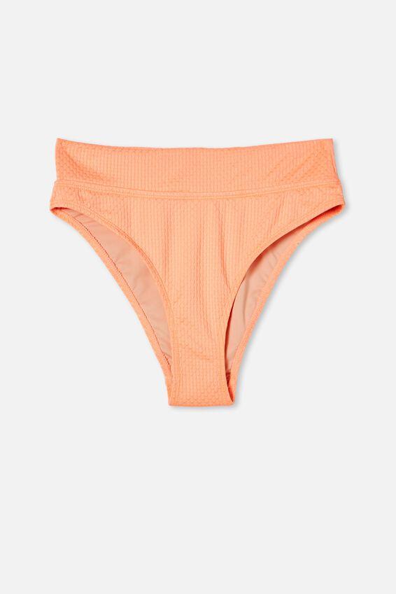 Highwaisted Cheeky Bikini Bottom Renewed, SUNSHINE ORANGE RENEWED